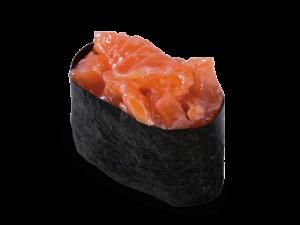 Гункан спайс с копченым лососем